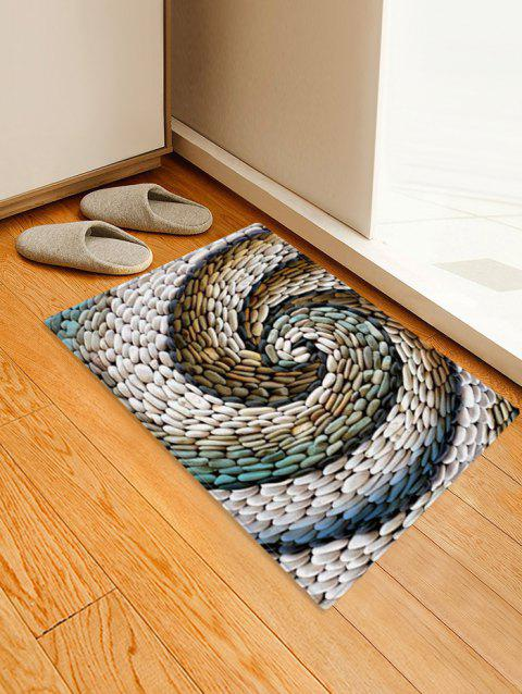 Pebbles Pattern Print Floor Mat - multicolor A W16 X L24 INCH