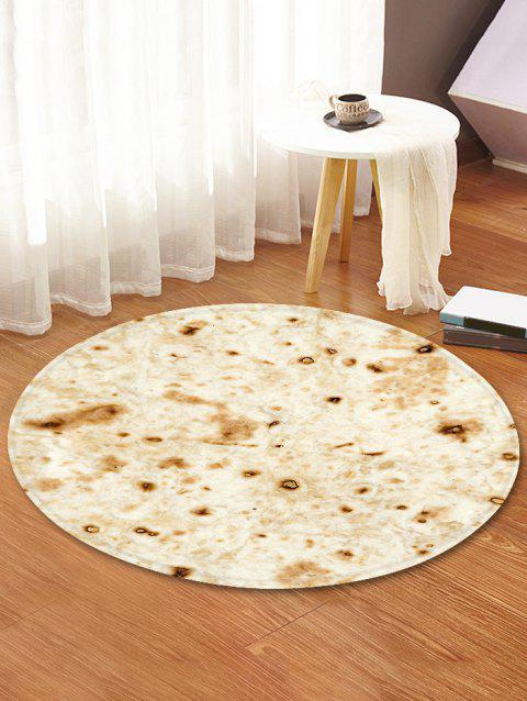 Burrito Pattern Round Water Absorption Area Rug - BLANCHED ALMOND 120CM (ROUND)
