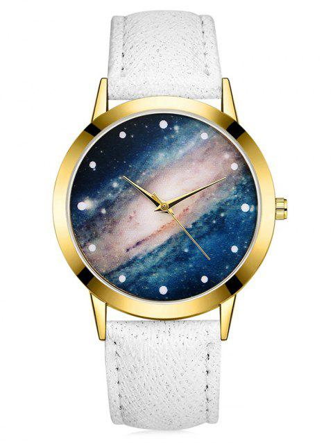 Galaxy Cosmic Starry Glass Quartz Watch - WHITE