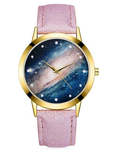 Galaxy Cosmic Starry Glass Quartz Watch - PINK