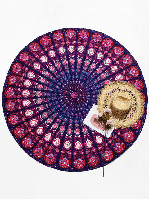 Waterdrop Print Circle Ethnic Beach Throw - multicolor ONE SIZE