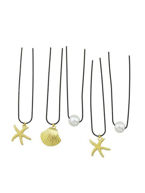 Faux Pearl Decoration Alloy Hairpins Set - GOLD