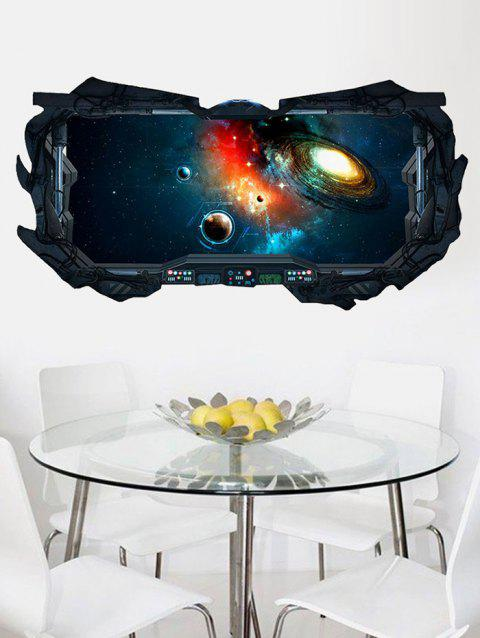 Outer Space Collapsar Print Wall Art Stickers - multicolor