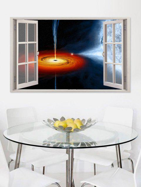 Black Hole Print Removable Wall Art Sticker - multicolor