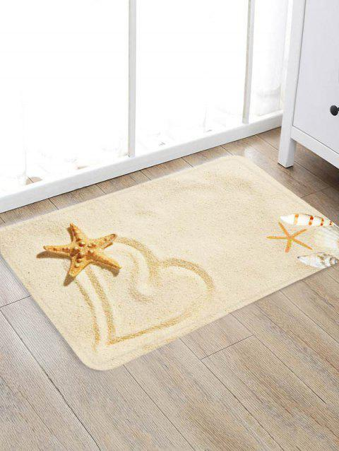 Beach Starfish Heart Pattern Floor Mat - multicolor A W20 X L31.5 INCH