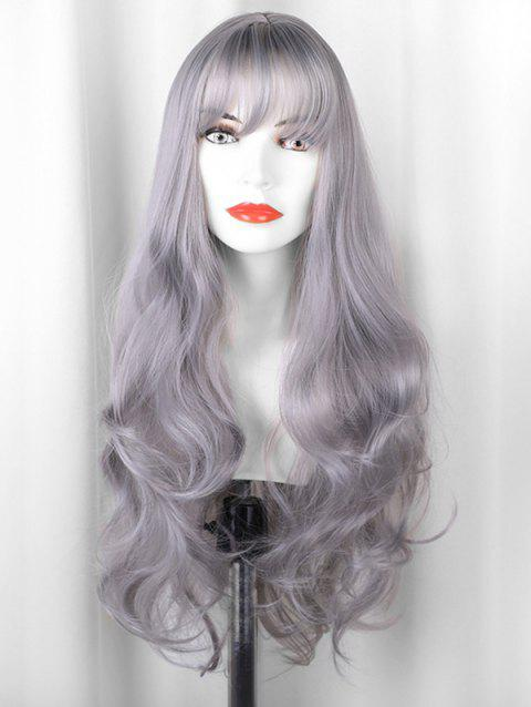 Long Body Wave See-through Bang Synthetic Wig - PLATINUM