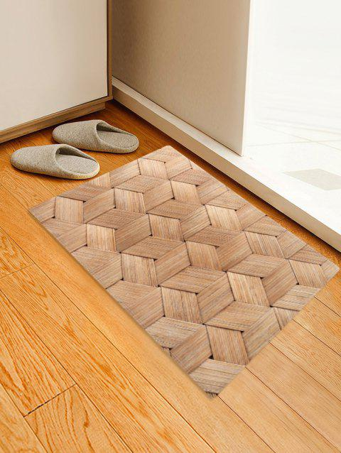 Bamboo Weaving Pattern Water Absorption Area Rug - BROWN SUGAR W16 X L24 INCH