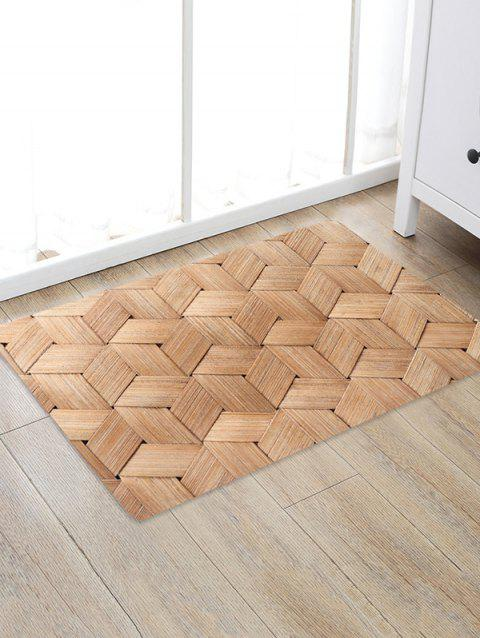 Bamboo Weaving Pattern Water Absorption Area Rug - BROWN SUGAR W20 X L31.5 INCH