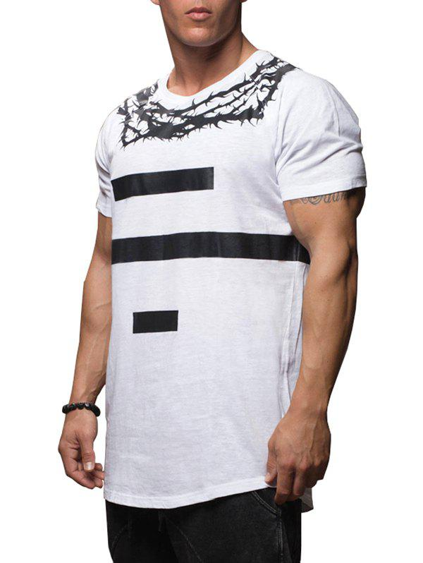 Thorns Number Print Casual T-shirt - WHITE L