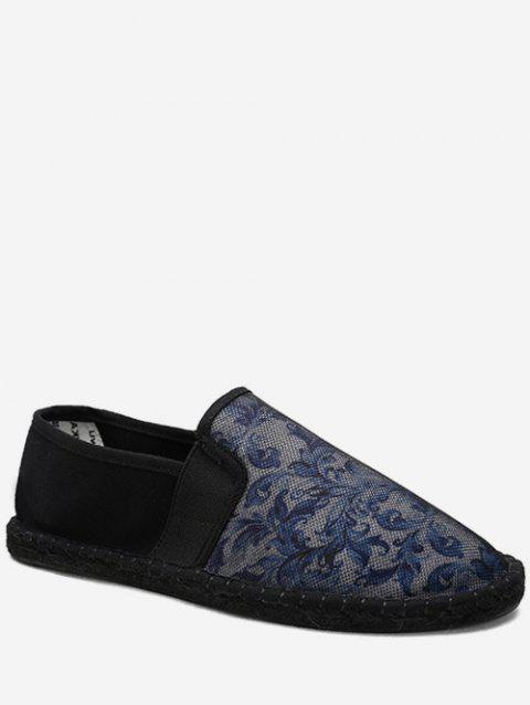 Flower Pattern Mesh Casual Shoes - SLATE BLUE EU 41