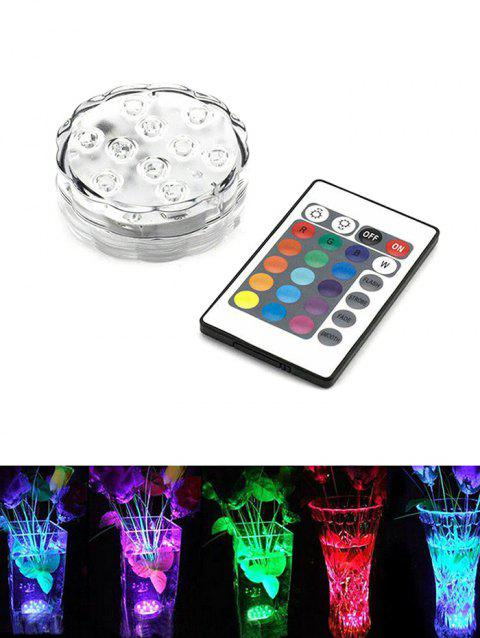 Color Changing Round Decorative LED Night Light - WHITE