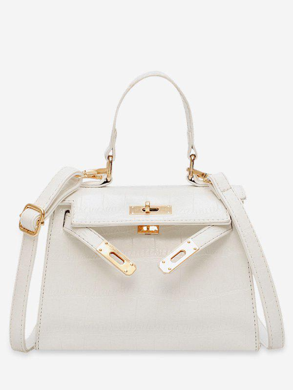 Solid Color Decoration Tote Bag - WHITE