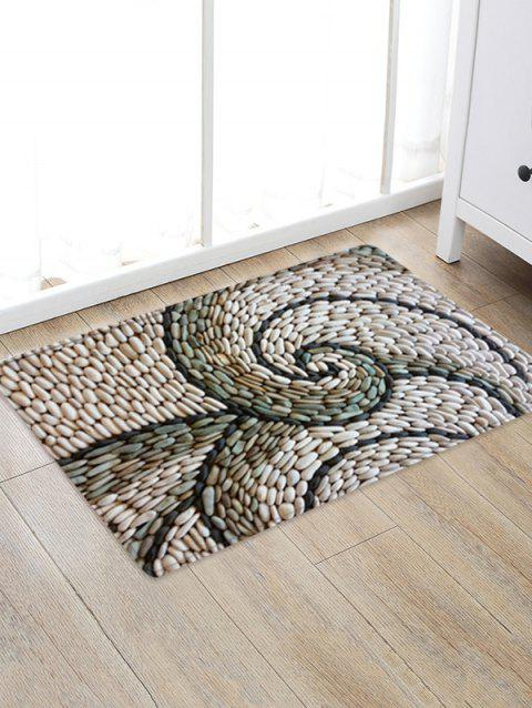 Abstract Rotating Pebbles Print Area Rug - WARM WHITE W20 X L31.5 INCH