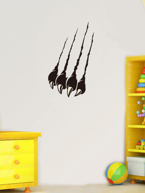 Claw Mark Print Removable Wall Art Stickers - BLACK