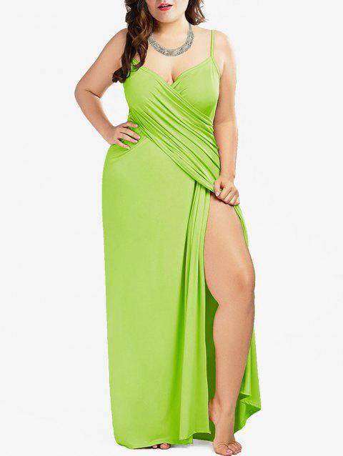 Plus Size Convertible Wrap Cover Up - TEA GREEN 3X