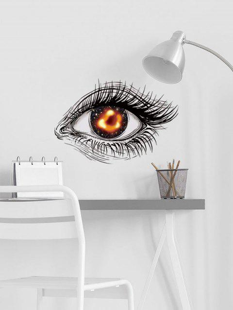 Black Hole Eye Print Removable Wall Art Stickers - BLACK