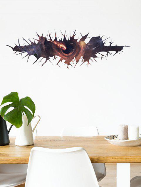Crack Black Hole Print Removable Wall Art Stickers - multicolor