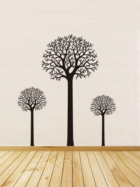Trees Print Removable Wall Art Stickers - BLACK