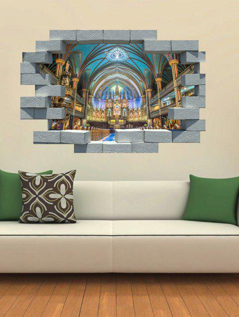 Brocken Wall Notre Dame Print Removable Wall Art Stickers - multicolor