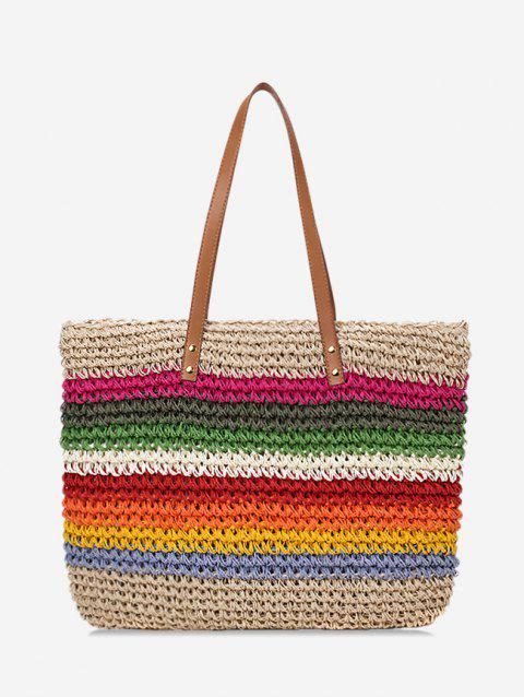 Stripe Rainbow Shoulder Bag - multicolor A