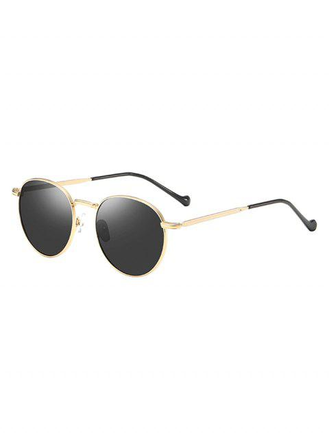 Metal Frame Driver Sunglasses - GOLD