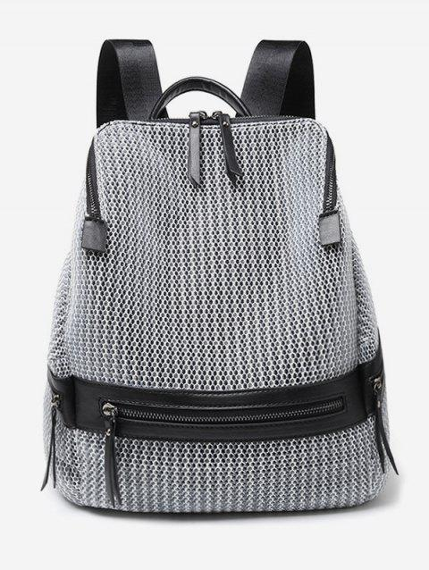 Mesh Large Capacity Travel Backpack - SILVER