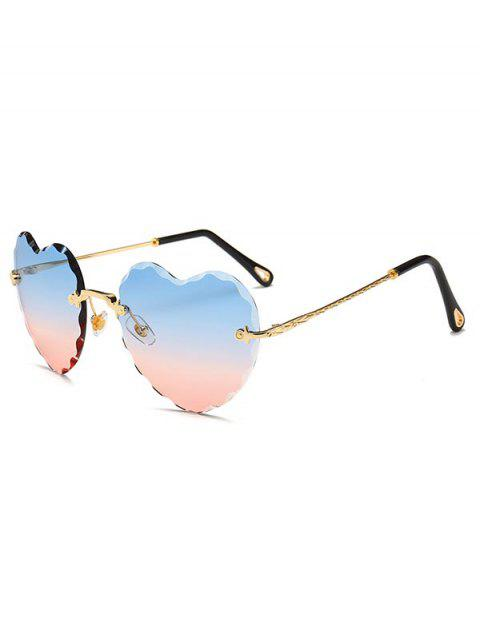 be0324677 17% OFF] 2019 Rimless Heart Sunglasses In PALE BLUE LILY | DressLily