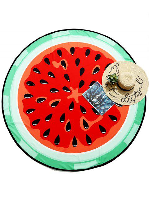 Watermelon Fruit Round Summer Beach Throw - multicolor ONE SIZE