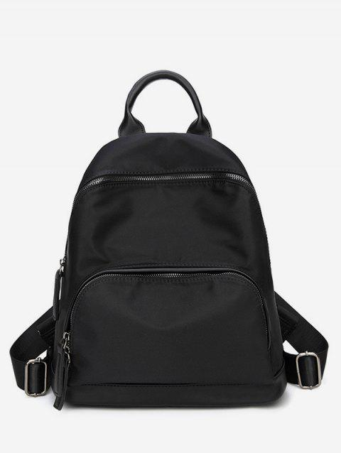 Simple Oxford Cloth Travel Backpack - BLACK
