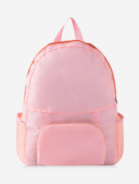 Travel Portable Folding Nylon Backpack - PIG PINK