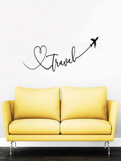 Love Arrow Print Removable Wall Art Stickers - BLACK