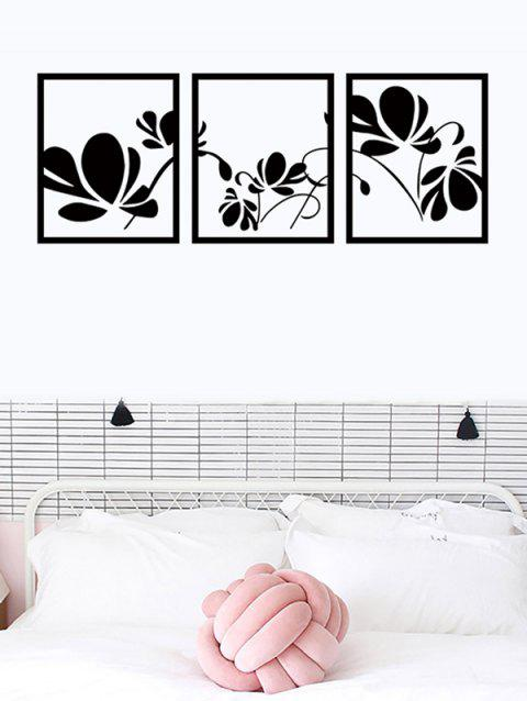 Butterfly Print Removable Wall Art Stickers - BLACK