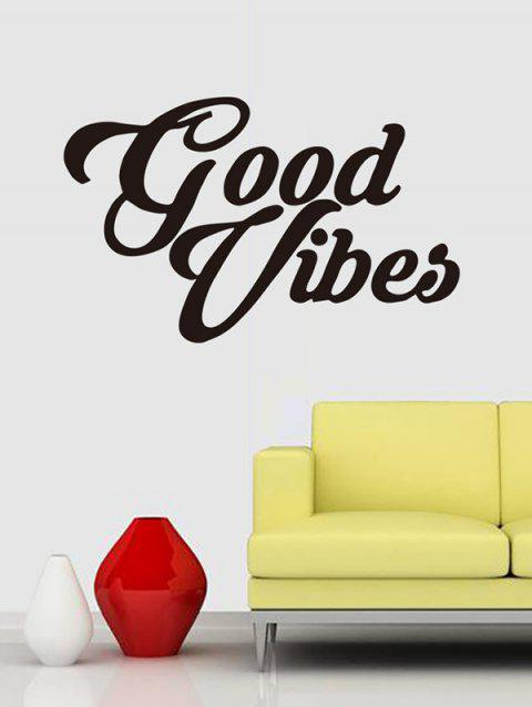 Good Vibes Print Removable Wall Art Stickers - BLACK