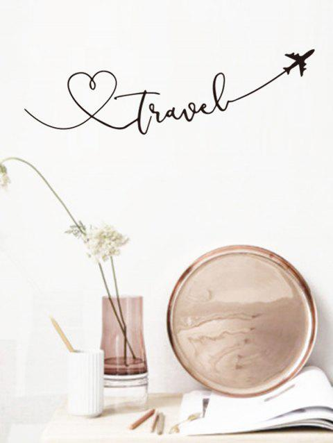 Travel Theme Removable Wall Art Stickers - BLACK