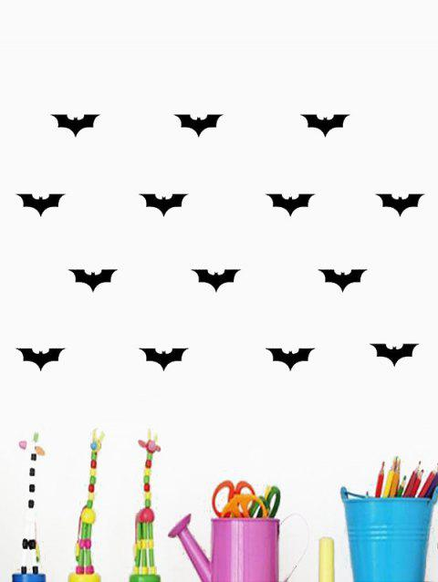 Bats Print Removable Wall Art Stickers - BLACK