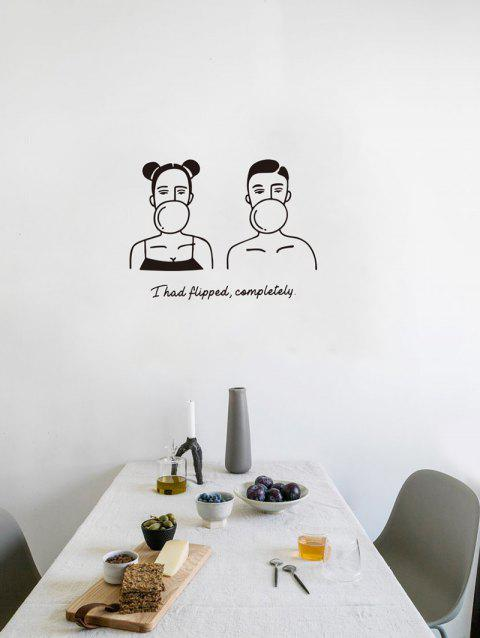 Couple Quote Print Removable Wall Art Stickers - BLACK