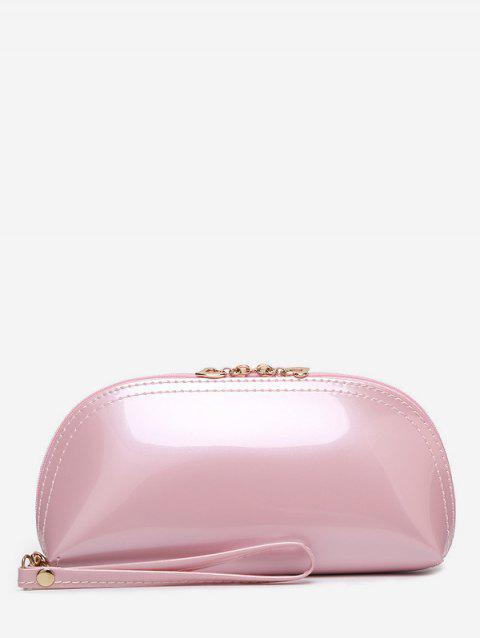 Pochette Simple en Cuir Verni - Rose Cochon