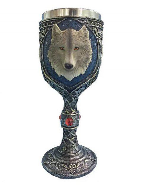 3D Wolf Head Shaped Goblet - BLUE