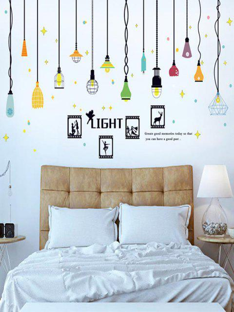 Cartoon Light Print Removable Wall Art Stickers - multicolor
