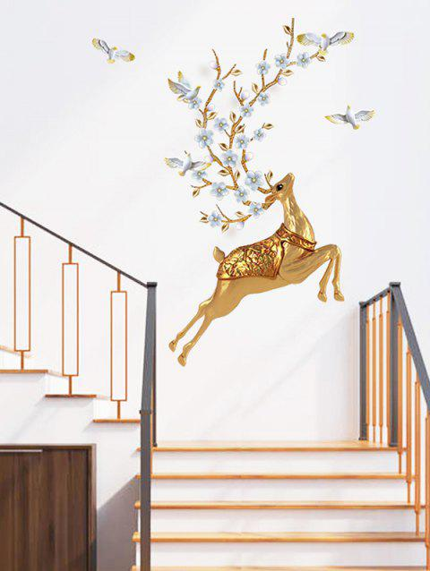 Sika Deer Print Decorative Wall Stickers - multicolor