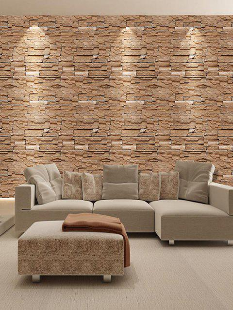 Retro Faux Brick Decorative Wall Stickers - multicolor