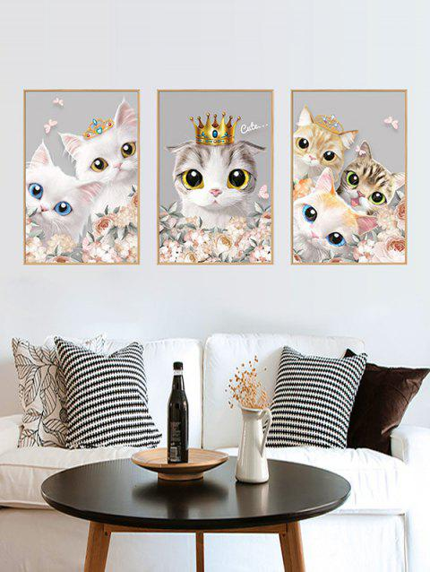 Cat Pattern DIY Wall Stickers - multicolor