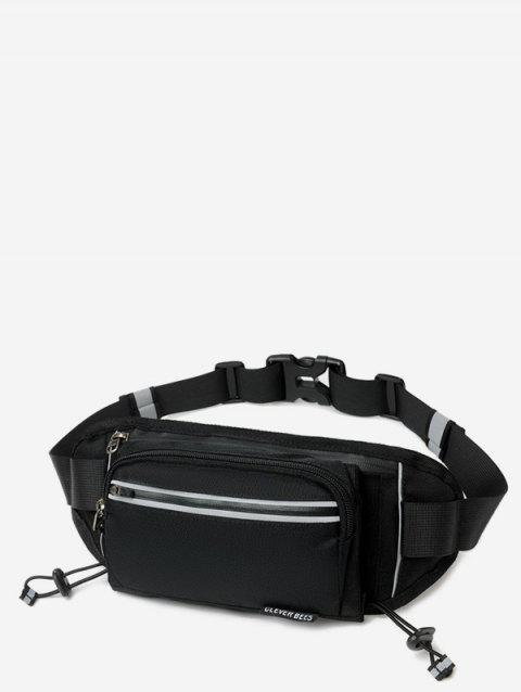 Outdoors Pockets Design Oxford Fabric Waist Bag - BLACK