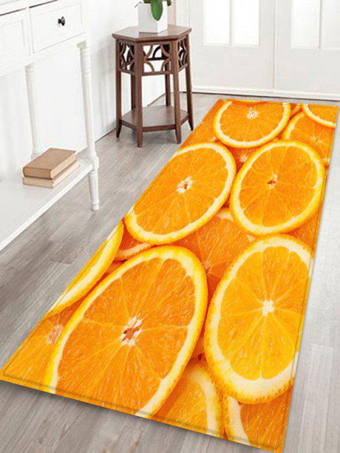 Orange Pattern Flannel Rug - DARK ORANGE W24 X L71 INCH