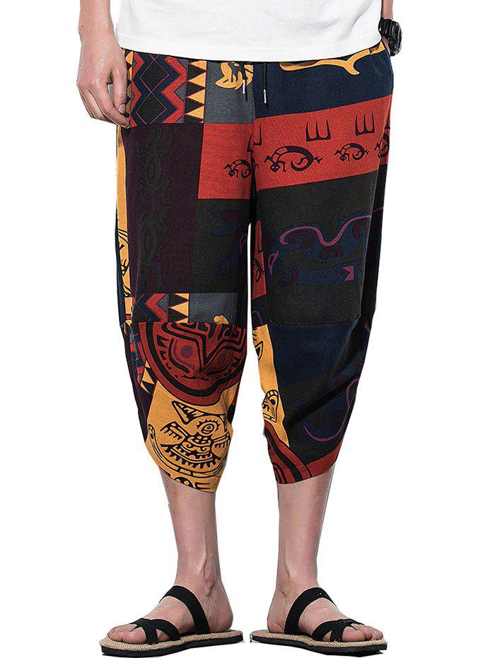Tribal imprimé Sarouel Casual - multicolor A 3XL