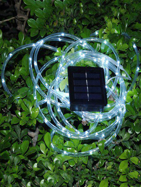 6W 5M 50LED Light With Transparent Tube Waterproof Solar Light String - TRANSPARENT