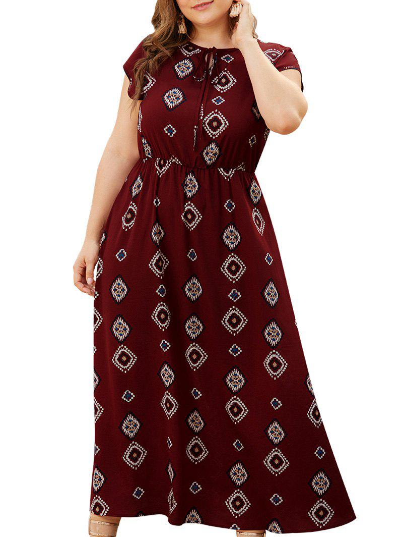 Plus Size Tribal Print Bohemian Maxi Dress