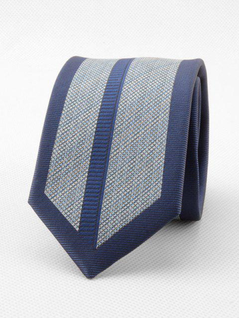 Striped Grid Formal Neck Tie - BLUE