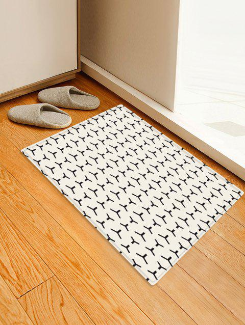 Simple Geometric Pattern Floor Mat - multicolor W16 X L24 INCH