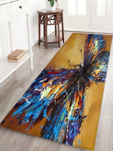 Butterfly Pattern Design Floor Mat - multicolor W24 X L71 INCH